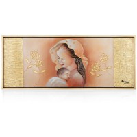 quadro lucido maternità tra le rose
