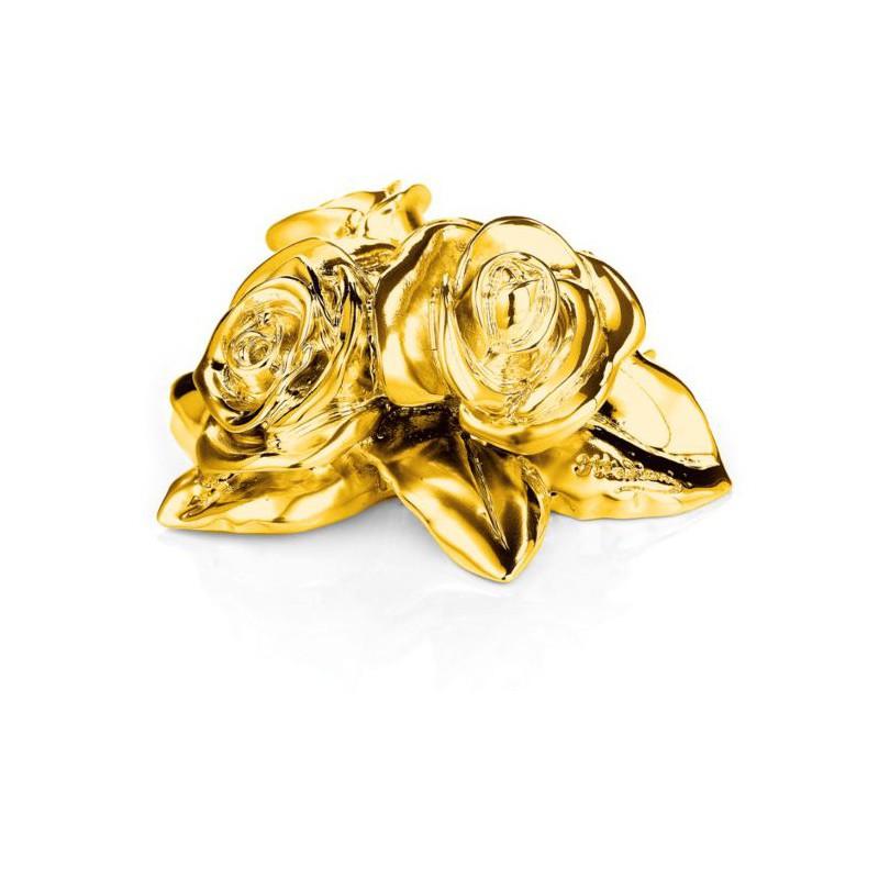 Bomboniera fiori oro