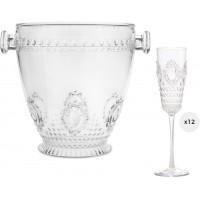 Set 12 flute con secchiello champagne Baroque & Rock