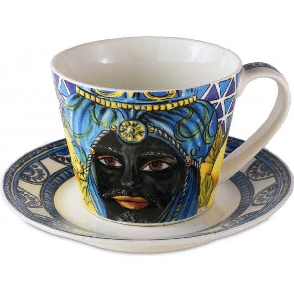 Bomboniera tazza colazione blu sicily