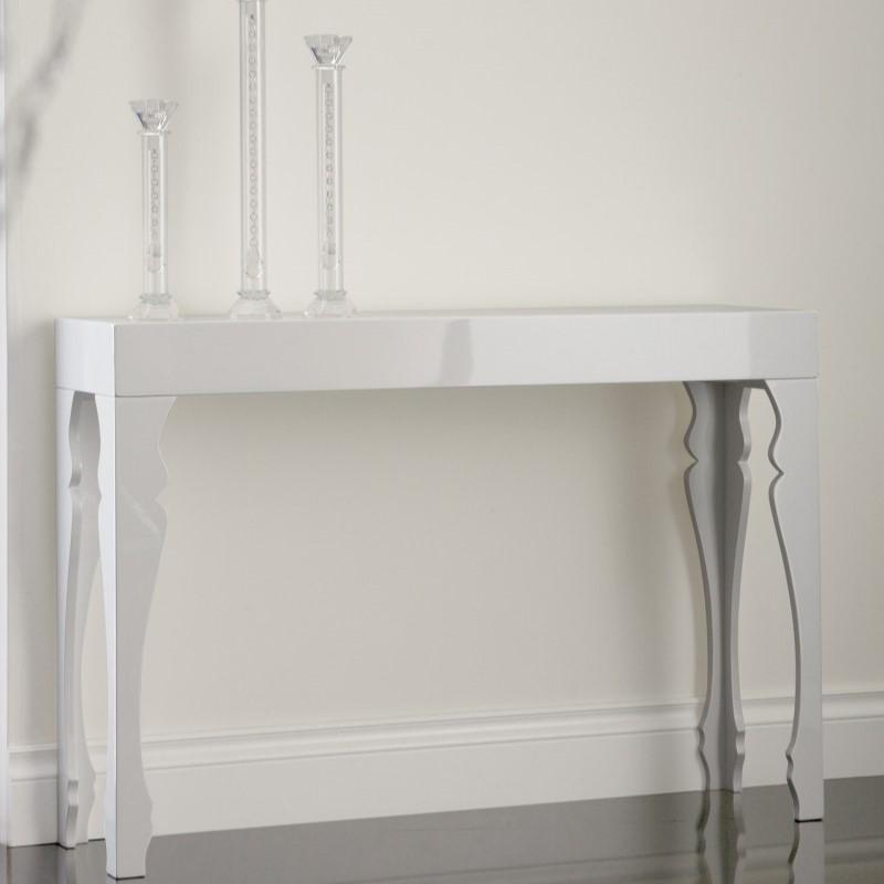 Consolle laccata bianca 130cm