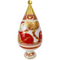 Vaso con coperchio natalizio 25cm maroc & roll