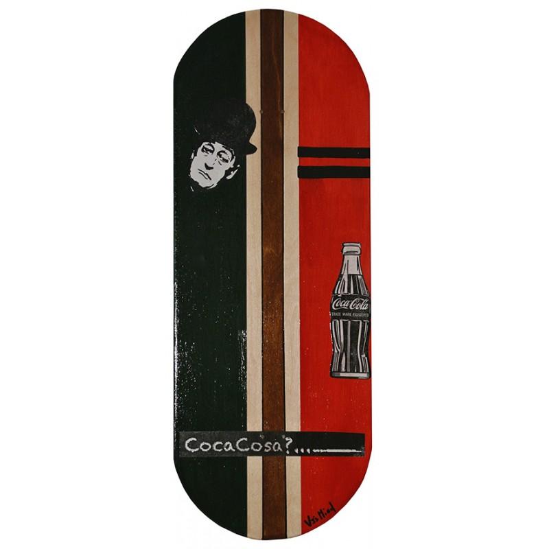 Skateboard da parete 83cm cocacosa