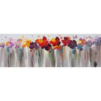 Quadro sfilata di fiori 150cm