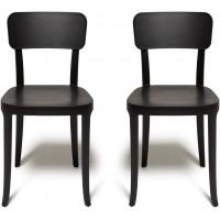 Coppia di sedie nere K. Chair