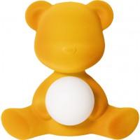 Lampada ricaricabile gialla velvet teddy