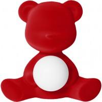 Lampada ricaricabile rosso velvet teddy
