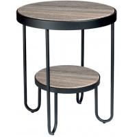 Tavolinetto tondo a due piani 50cm