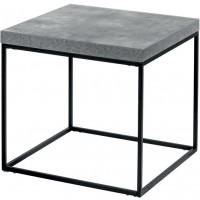 Tavolino quadrato grigio cemento 59cm