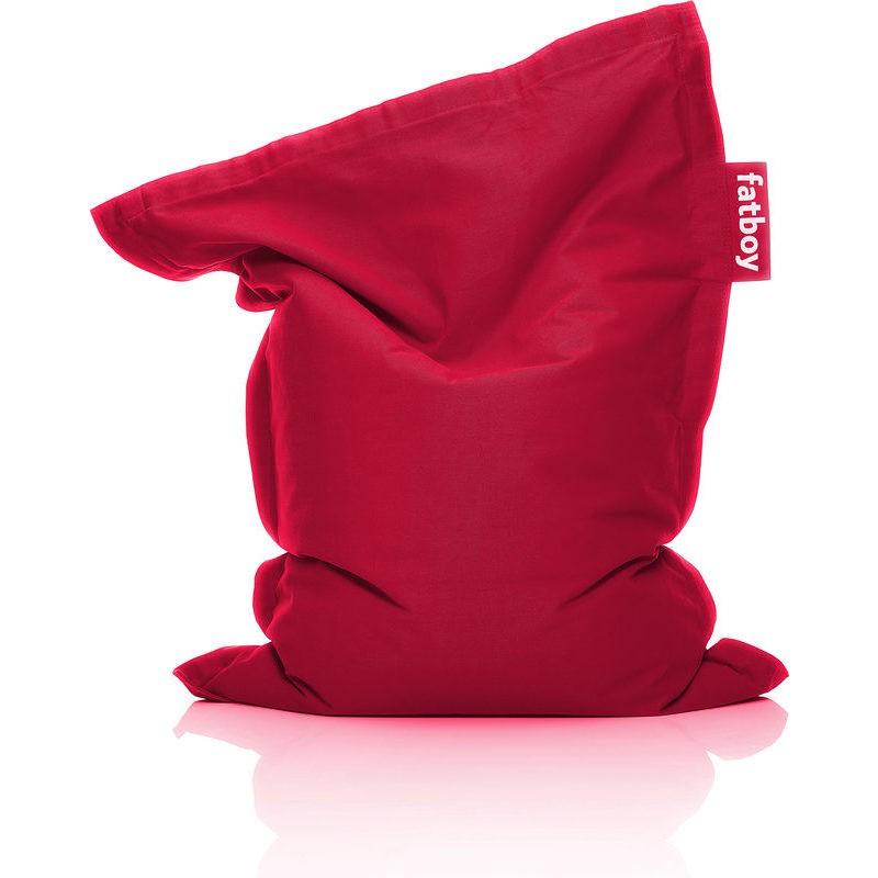 Sacco pouf in cotone stonewashed rosso original