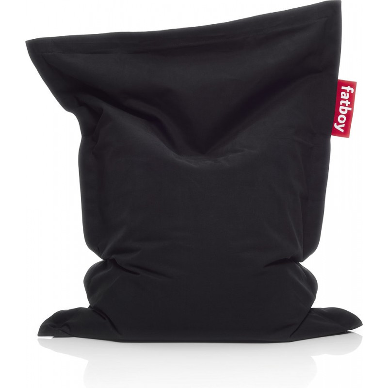 Sacco pouf in cotone stonewashed nero original