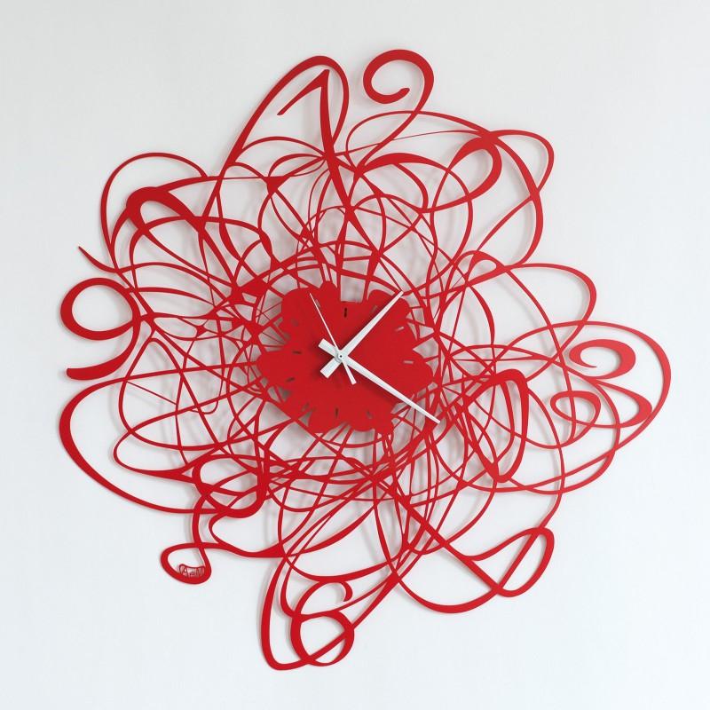 orologio doodle rosso