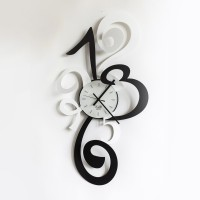 orologio truciolo bianco e nero