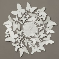 orologio vortice butterfly bianco