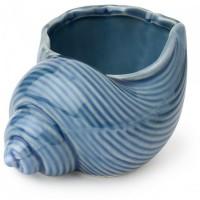 ciotola conchiglia in porcellana blu 12cm