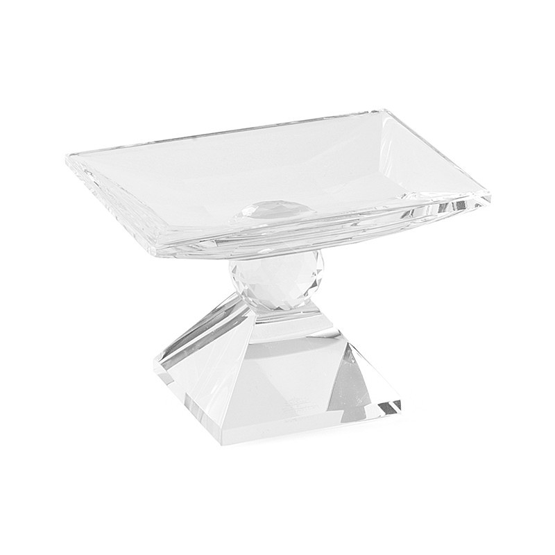 Alzatina cristallo 11x8x7,5cm hervit | DomuStore, Luxury Store