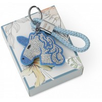 portachiavi unicorno blu 17cm flash
