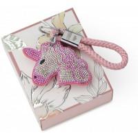 portachiavi unicorno rosa 17cm flash