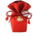 secchiello rosso 6x6x14cm cresima