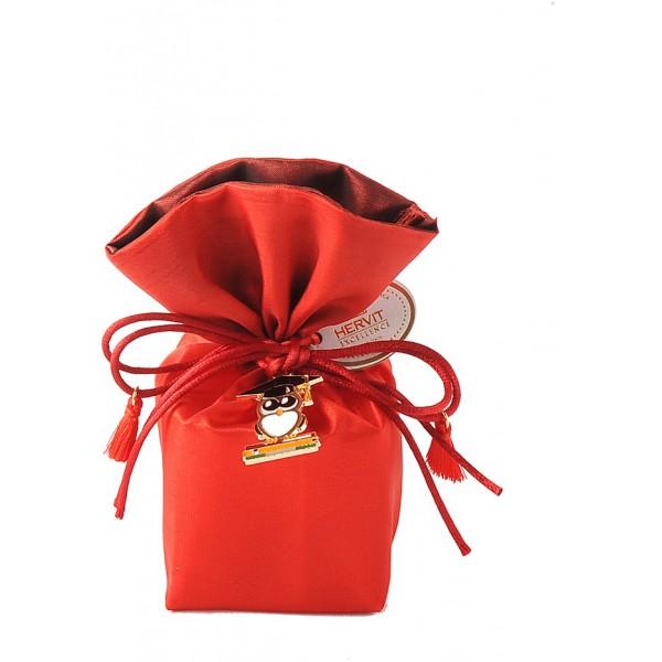 secchiello rosso 6x6x14cm laurea