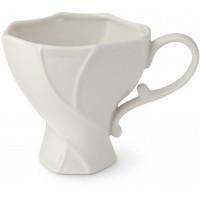 set 2 tazze in porcellana bianca torchon 11x10cm