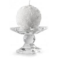 set portacandela in cristallo 8,5cm con candela