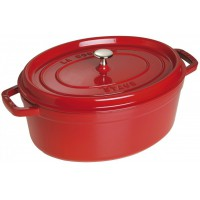 cocotte ovale rossa 31cm