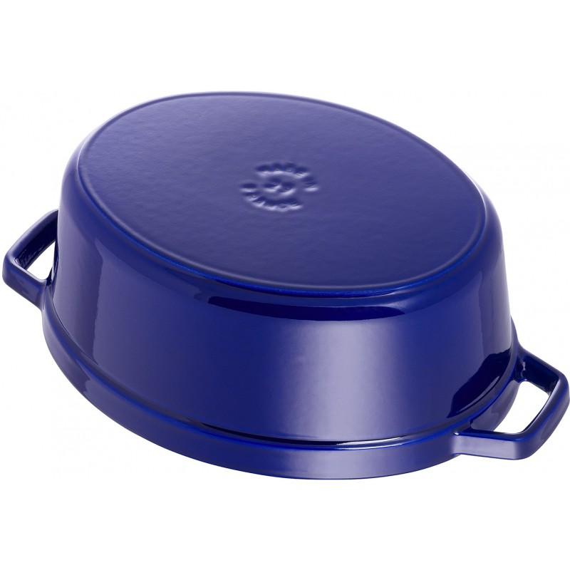 cocotte ovale blu 29cm