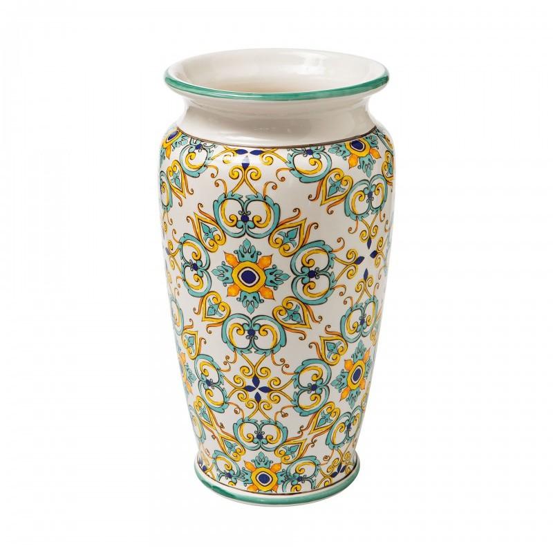 Vaso portaombrelli in ceramica medicea