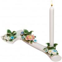 portacandela con fiori flower attitude ascia