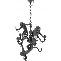 Lampadario candeliere nero Monkey Lamp