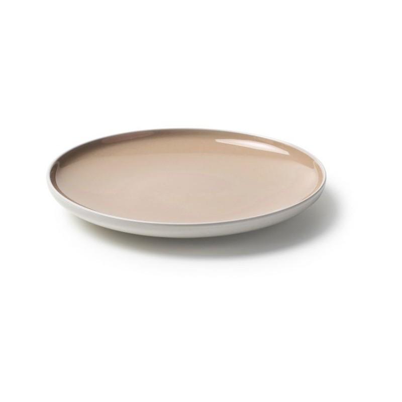 Set 18 piatti sorbetto beige