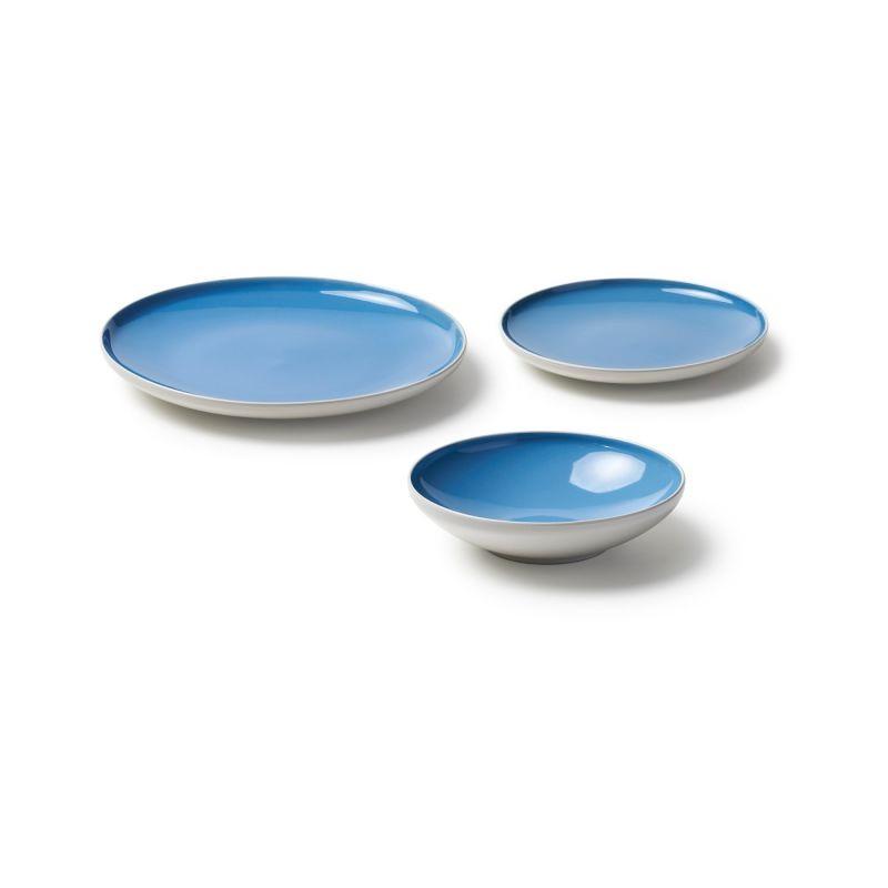 Set 18 piatti sorbetto azzurri