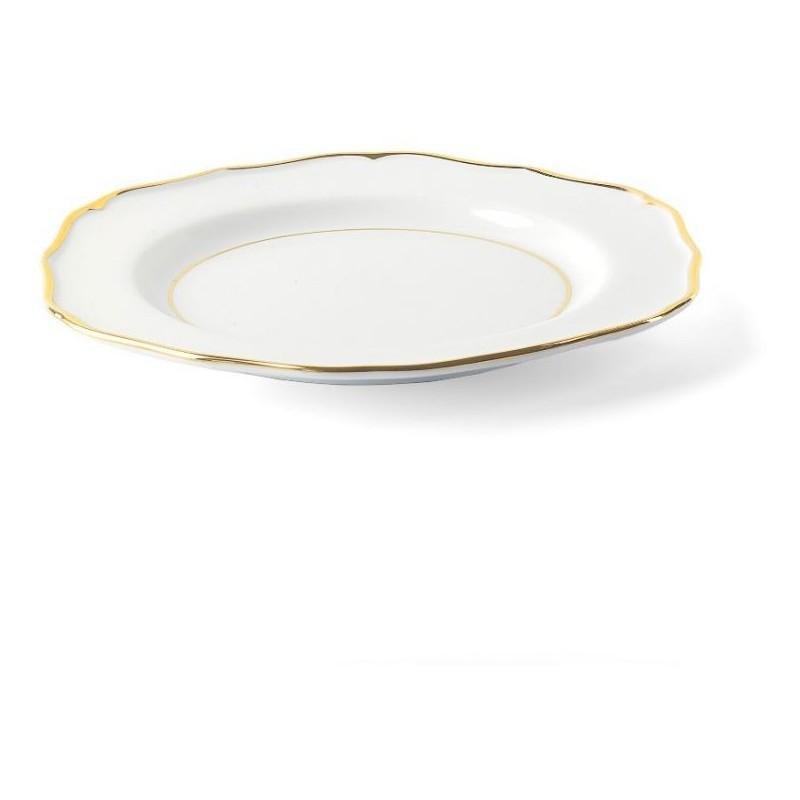 Set 18 piatti glamour bordo oro