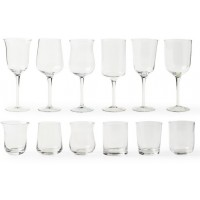 Set 12 bicchieri diseguale trasparenti