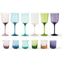 Set 24 bicchieri diseguale colorati