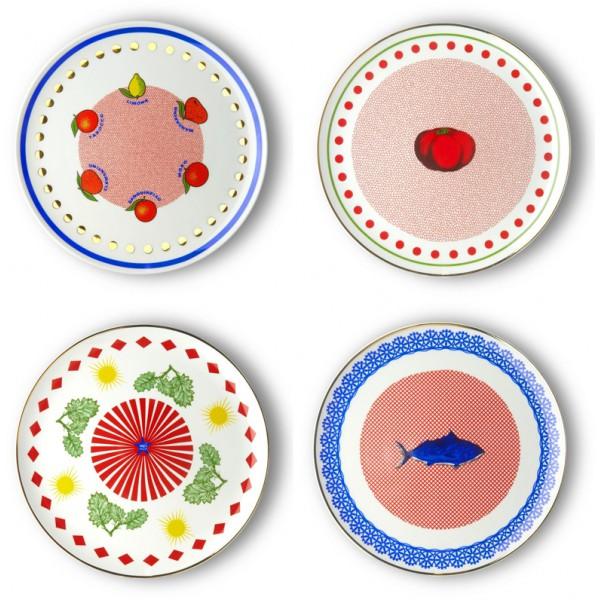 Set 4 piatti da portata bel paese