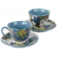set 2 tazzine caffe porcellana blu