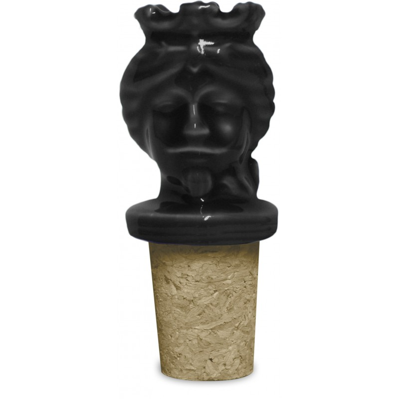 tappo bottiglia uomo nero