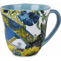 mug porcellana blu