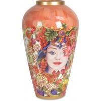 vaso 37 cm rosso
