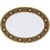 Piatto ovale 40 cm Baroque Nero