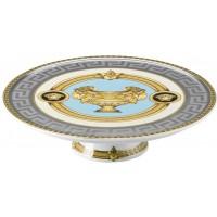 Piatto piano con piede Prestige Gala Bleu