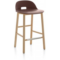 Sgabello 81cm marrone Alfi counter stool