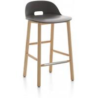 Sgabello 81cm grigia Alfi counter stool