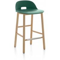 Sgabello 81cm verde Alfi counter stool