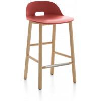 Sgabello 81cm rosso Alfi counter stool