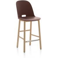 Sgabello 99cm marrone Alfi counter stool