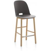 Sgabello 99cm grigia Alfi counter stool