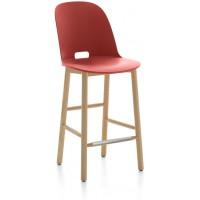 Sgabello 99cm rosso Alfi counter stool